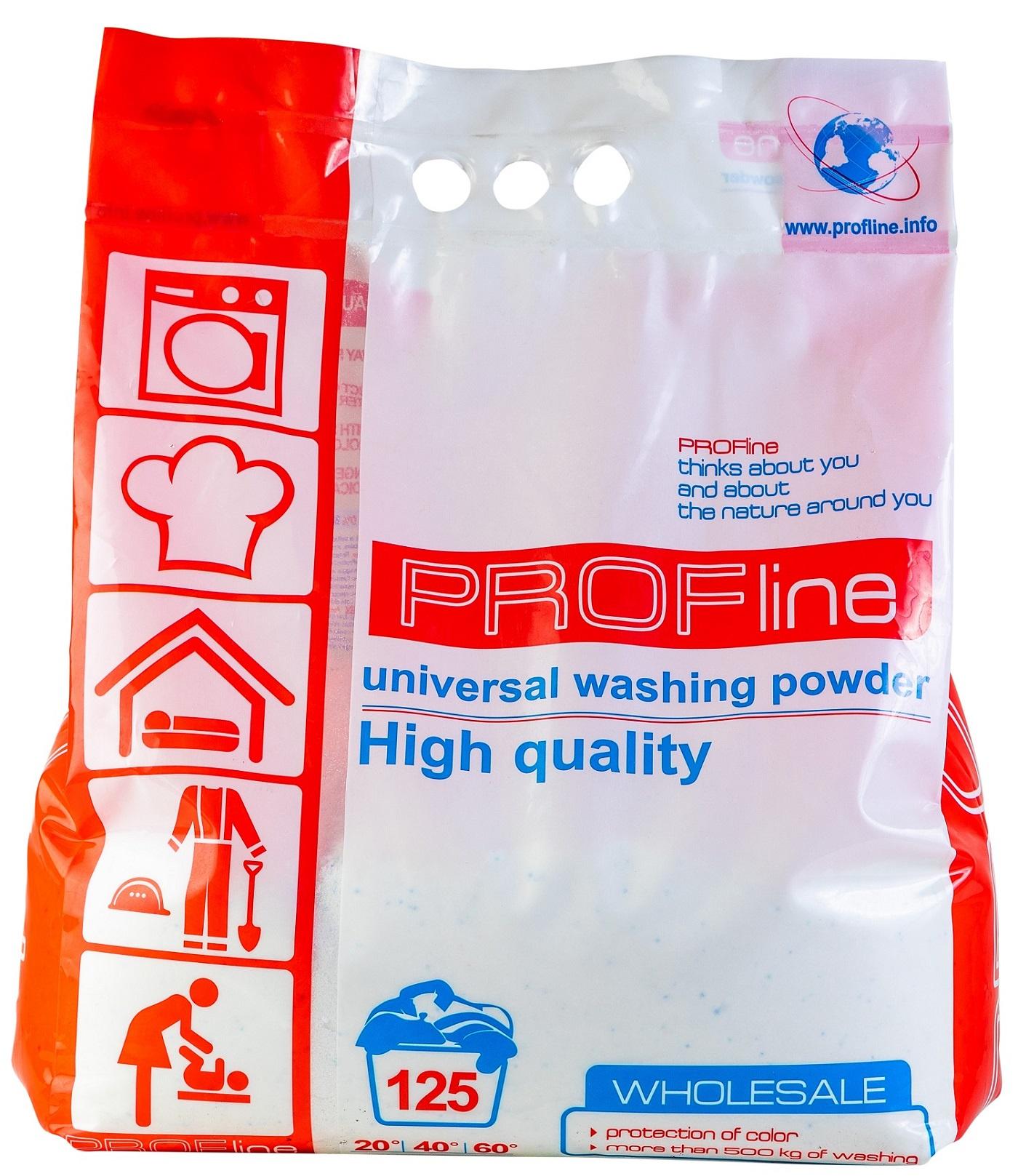 Стиральный порошок универсальный PROFline Universal 10 кг (125 стирок) - Бесфосфатный и гипоаллергенный концентрат для стирки всех типов тканей цены