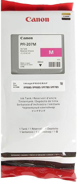 Картридж Canon PFI-207, пурпурный, для струйного принтера, оригинал canon 8792b001 pfi 207 y