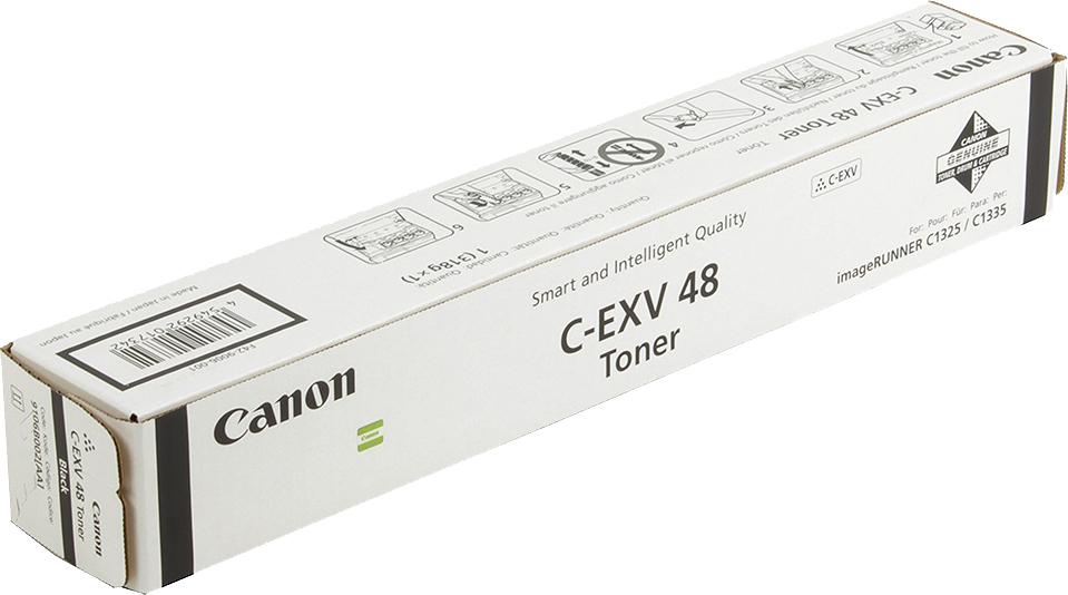 Картридж Canon C-EXV48Bk, черный, для лазерного принтера, оригинал фотобарабан canon c exv47y для ir c1325if 1335if жёлтый