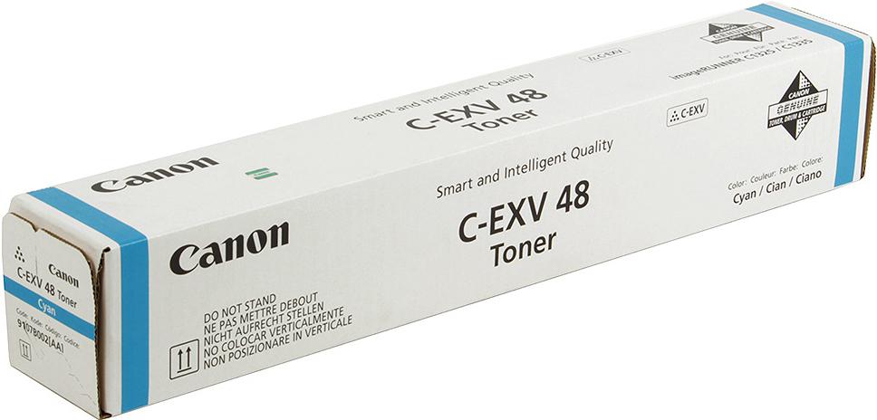 Картридж Canon C-EXV48C, голубой, для лазерного принтера, оригинал фотобарабан canon c exv47y для ir c1325if 1335if жёлтый