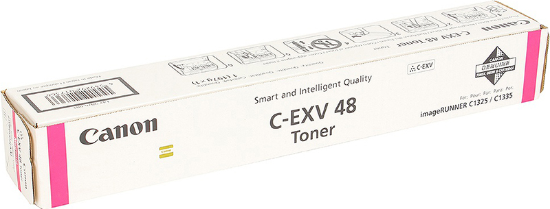 Картридж Canon C-EXV48M, пурпурный, для лазерного принтера, оригинал фотобарабан canon c exv47y для ir c1325if 1335if жёлтый