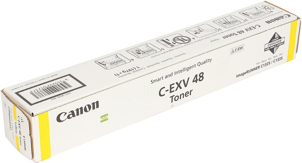 Картридж Canon C-EXV48Y, желтый, для лазерного принтера, оригинал фотобарабан canon c exv47y для ir c1325if 1335if жёлтый