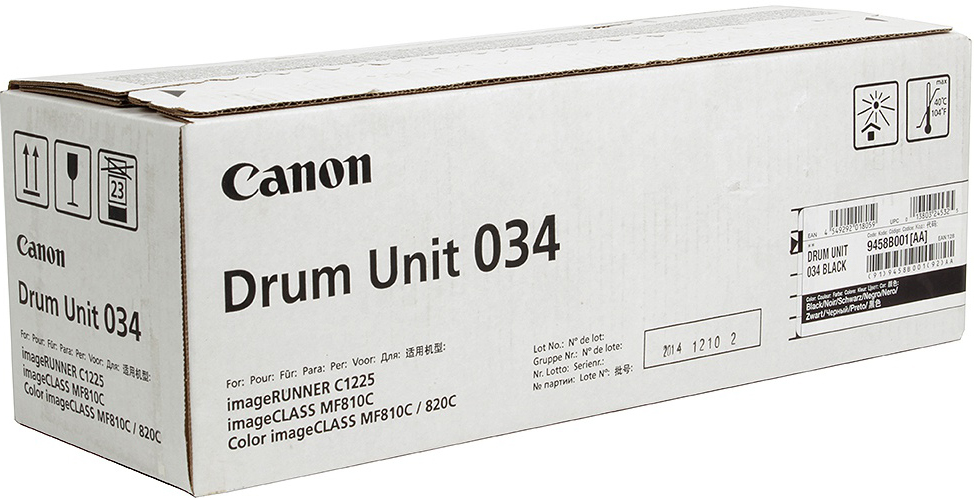 Фотобарабан DRUM UNIT Canon C-EXV034BK для iR C1225/iF. Черный. 32 500 страниц.