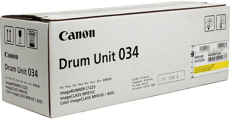 Фотобарабан DRUM UNIT Canon C-EXV034Y для iR C1225/iF. Желтый. 34 000 страниц.