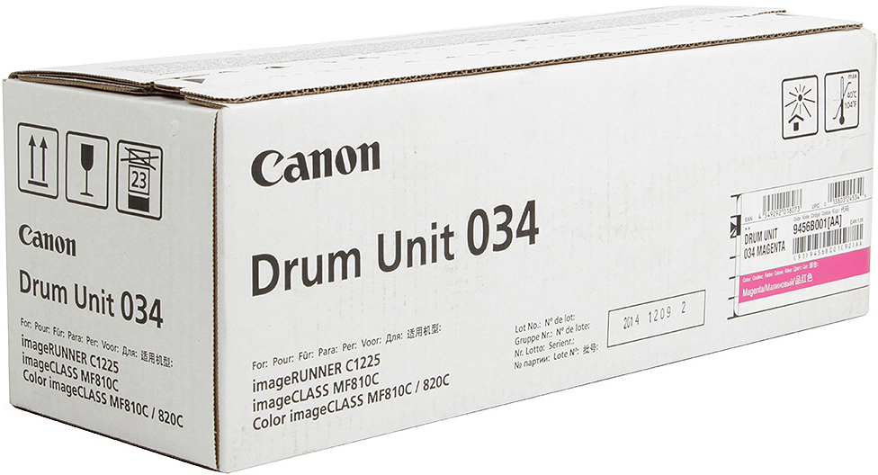 Фотобарабан DRUM UNIT Canon C-EXV034M для iR C1225/iF. Пурпурный. 34 000 страниц.