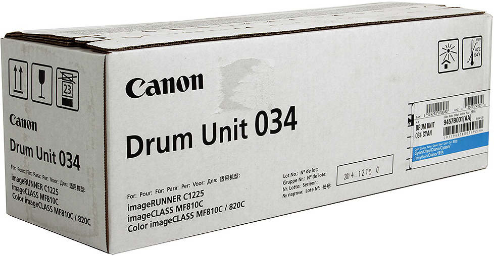 Фотобарабан DRUM UNIT Canon C-EXV034C для iR C1225/iF. Голубой. 34 000 страниц.