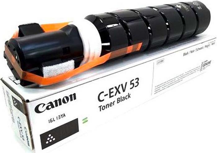 Картридж Canon C-EXV53, черный, для лазерного принтера, оригинал imagerunner advance 4545i iii mfp 3325c005