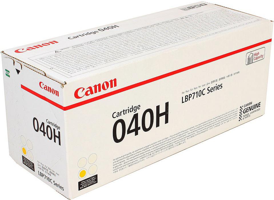 Картридж Canon 040 H Y, желтый, для лазерного принтера, оригинал цена 2017
