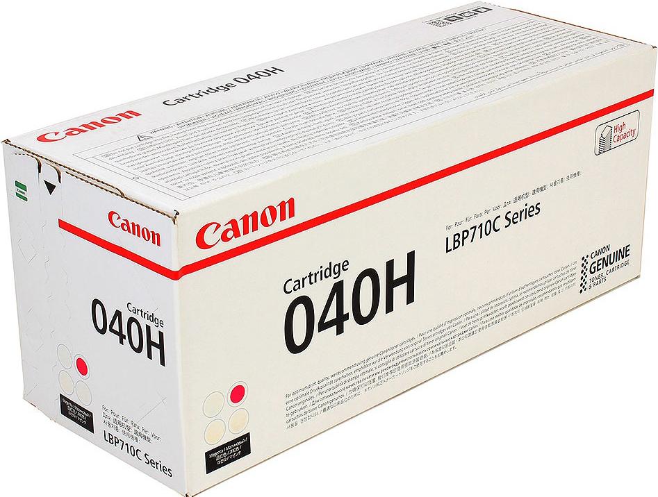 Картридж Canon 040 H M, пурпурный, для лазерного принтера, оригинал