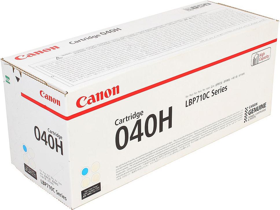 Картридж Canon 040 H C, голубой, для лазерного принтера, оригинал