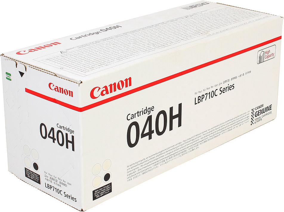 Картридж Canon 040 H Bk, черный, для лазерного принтера, оригинал