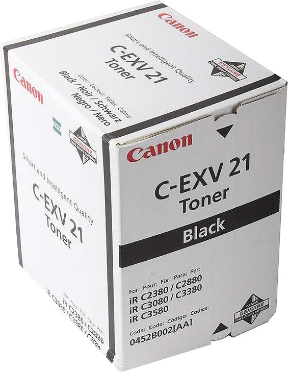 Картридж Canon C-EXV21Bk, черный, для лазерного принтера, оригинал цена