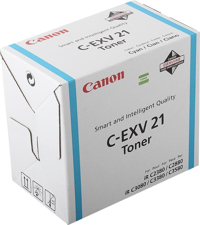 Картридж Canon C-EXV21C, голубой, для лазерного принтера, оригинал тонер canon c exv34 для ir c9060 c9065 c9070 голубой туба [3783b002]