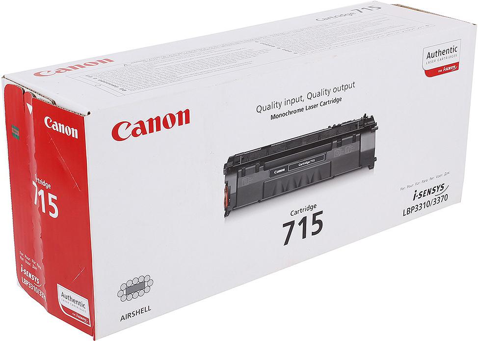 Картридж Canon 715 для принтеров LBP3310/3370. Черный. 3 000 страниц. цена