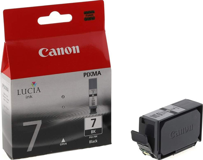Картридж Canon PGI-7Bk для PIXMA MX7600, PIXMA iX7000. Черный. 570 страниц. картридж canon pgi 35 black для pixma ip100 1509b001