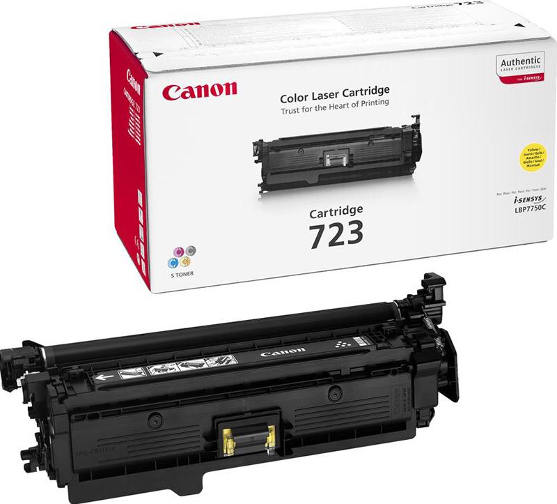 Картридж Canon 723 Y, желтый, для лазерного принтера, оригинал Canon