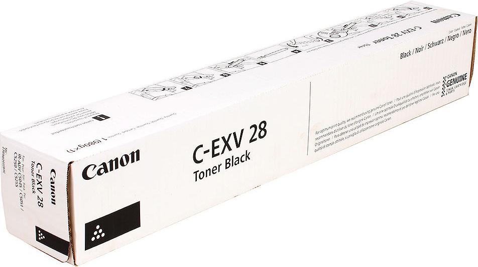 Картридж Canon C-EXV28 Bk, черный, для лазерного принтера, оригинал