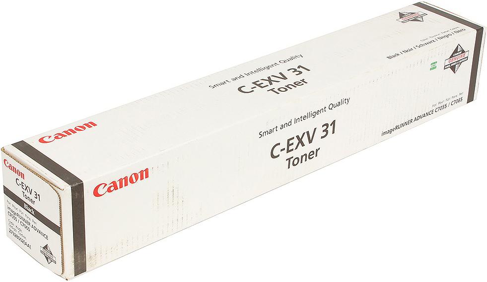 Картридж Canon C-EXV31Bk, черный, для лазерного принтера, оригинал тонер canon c exv31m для irc7055 c7065 пурпурный 52000 страниц