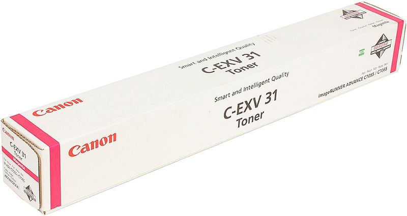 Картридж Canon C-EXV31M, пурпурный, для лазерного принтера, оригинал тонер canon c exv31m для irc7055 c7065 пурпурный 52000 страниц