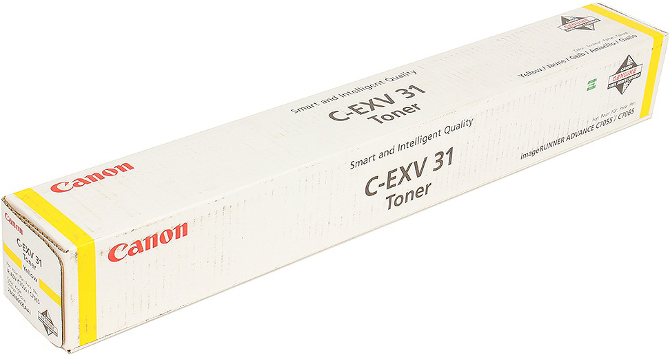 Картридж Canon C-EXV31Y, желтый, для лазерного принтера, оригинал тонер canon c exv31m для irc7055 c7065 пурпурный 52000 страниц