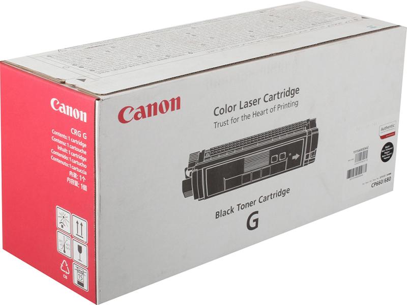лучшая цена Картридж Canon CRG-G Bk, черный, для лазерного принтера, оригинал