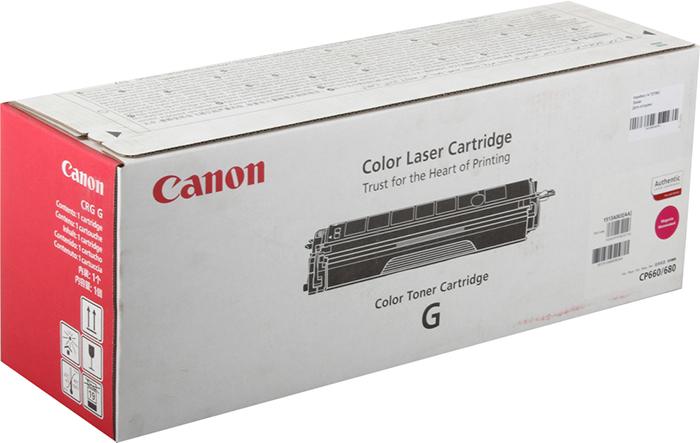 лучшая цена Картридж Canon CRG-G M, пурпурный, для лазерного принтера, оригинал