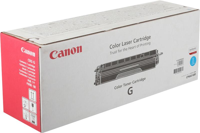 лучшая цена Картридж Canon CRG-G C, голубой, для лазерного принтера, оригинал