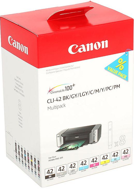 Фото - Картридж Canon CLI-42 Multi Pack для PRO-100. 8 чернил. meike fc 100 for nikon canon fc 100 macro ring flash light nikon d7100 d7000 d5200 d5100 d5000 d3200 d310