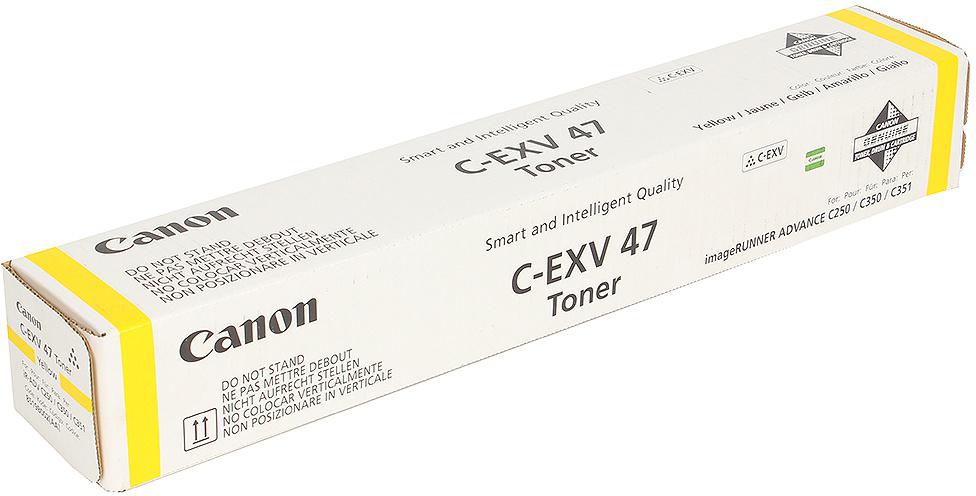 Картридж Canon C-EXV47Y, желтый, для лазерного принтера, оригинал