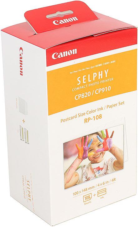 Картридж Canon RP-108, белый, для термосублимационных принтеров, оригинал компактный фотопринтер canon selphy cp1300 white