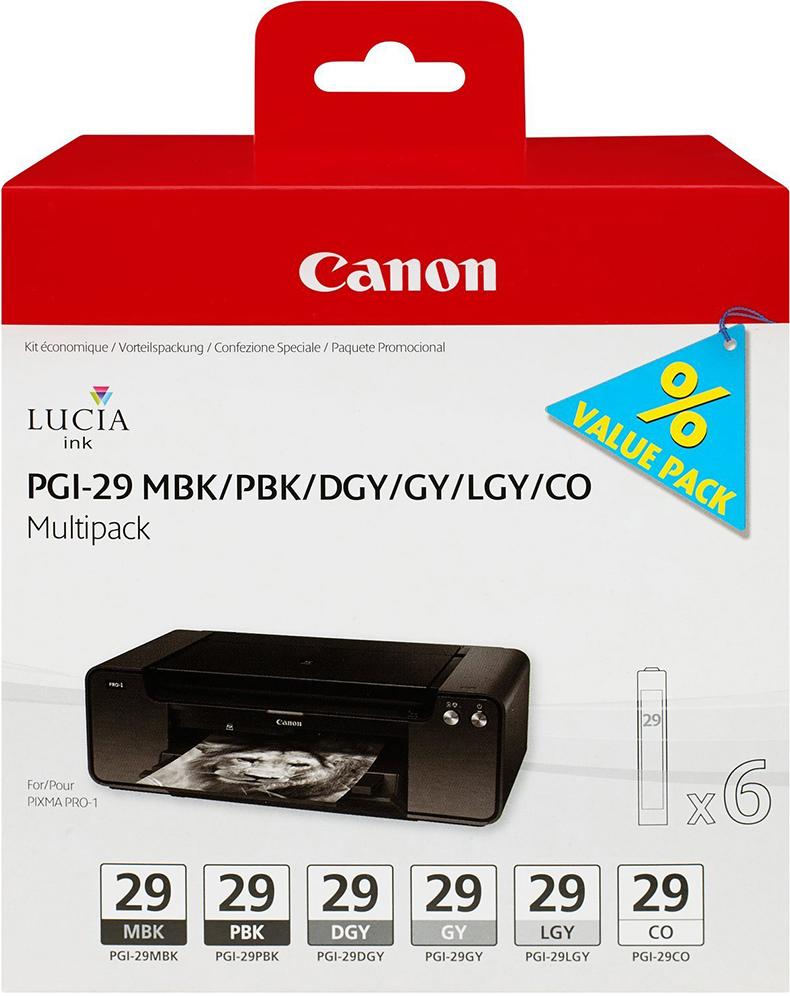 Картридж Canon PGI-29, разноцветный, для струйного принтера, оригинал картридж canon pgi 29 pbk 4869b001