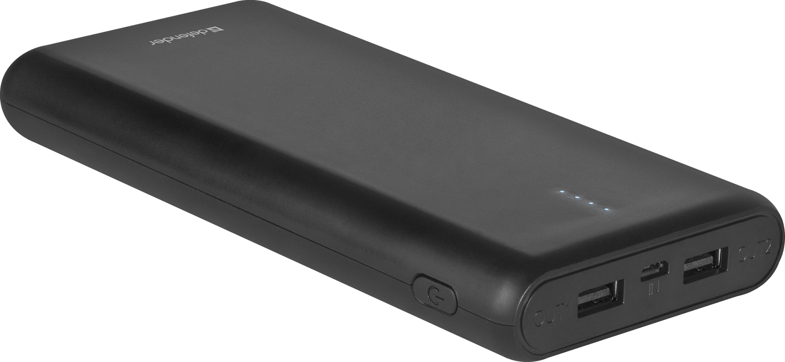 Внешний аккумулятор Defender Lavita 16000B 2 USB, 16000 mAh, 2.1A 2600mah power bank usb блок батарей 2 0 порты usb литий полимерный аккумулятор внешний аккумулятор для смартфонов светло зеленый