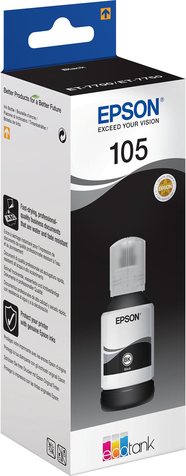 Чернила Epson 105 (C13T00Q140), черный ailooge черный 105