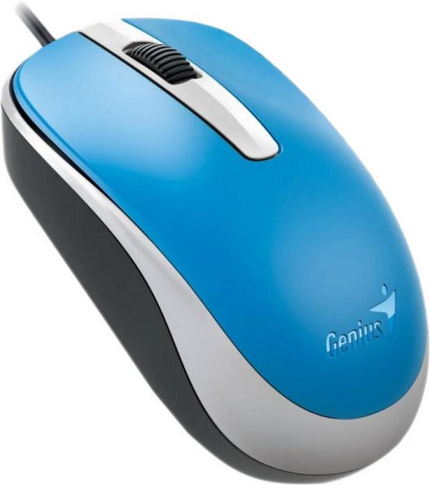 Мышь Genius DX-120, голубой