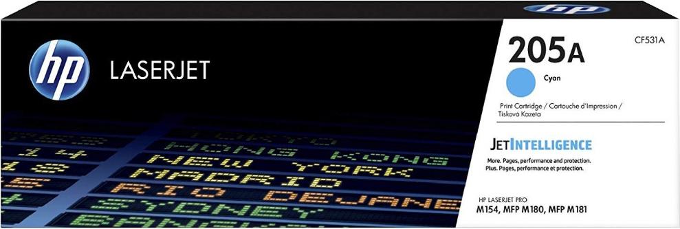 Картридж HP CF531A (HP 205A) для HP LaserJet M180/M181. Голубой. 900 страниц. hp hp 132