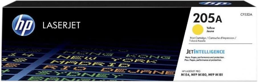 Картридж HP CF532A (HP 205A) для HP LaserJet M180/M181. Желтый. 900 страниц. hp hp 132