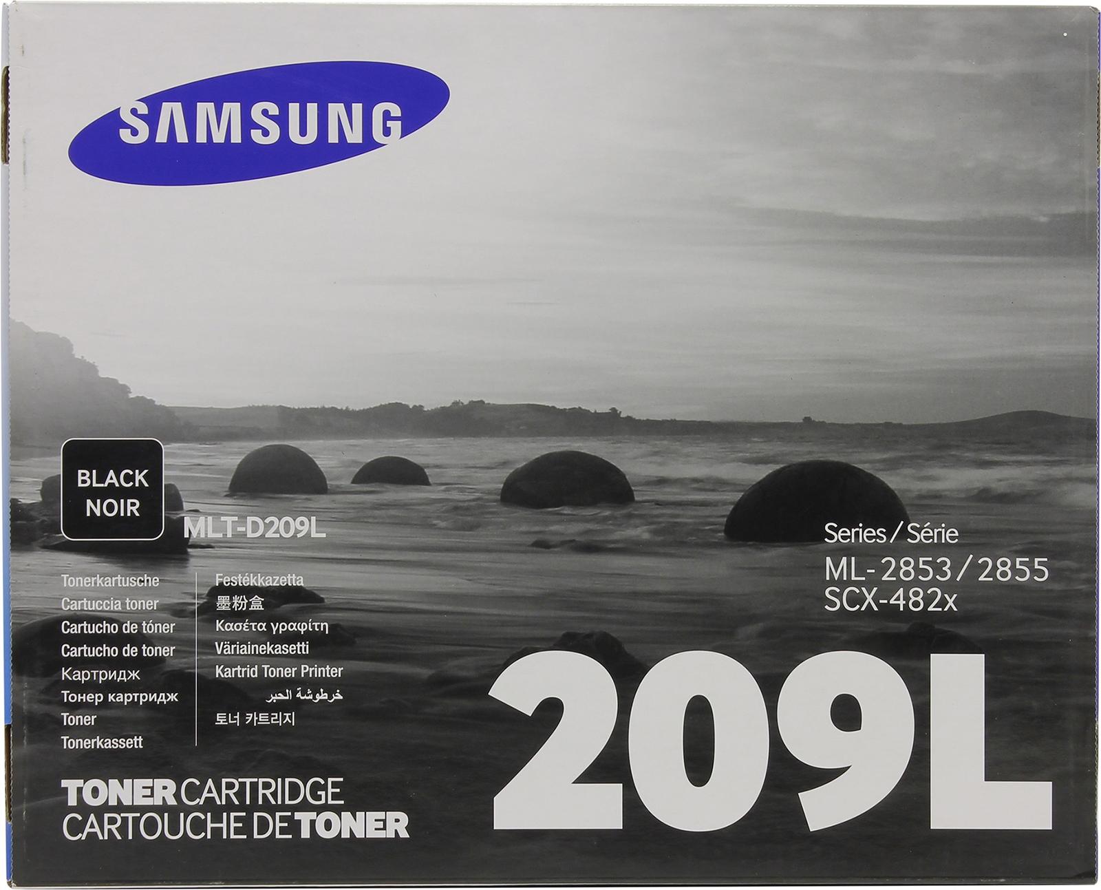 Картридж Samsung MLT-D209L, черный, для лазерного принтера, оригинал картридж sakura mltd209l для samsung ml 2855nd scx 4824fn 4828fn