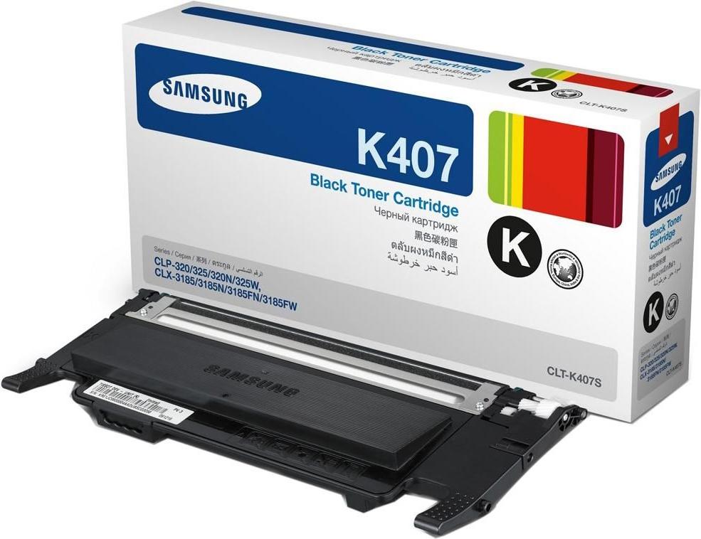 Картридж Samsung CLT-K407S, черный, для лазерного принтера, оригинал samsung c24f390fhi черный