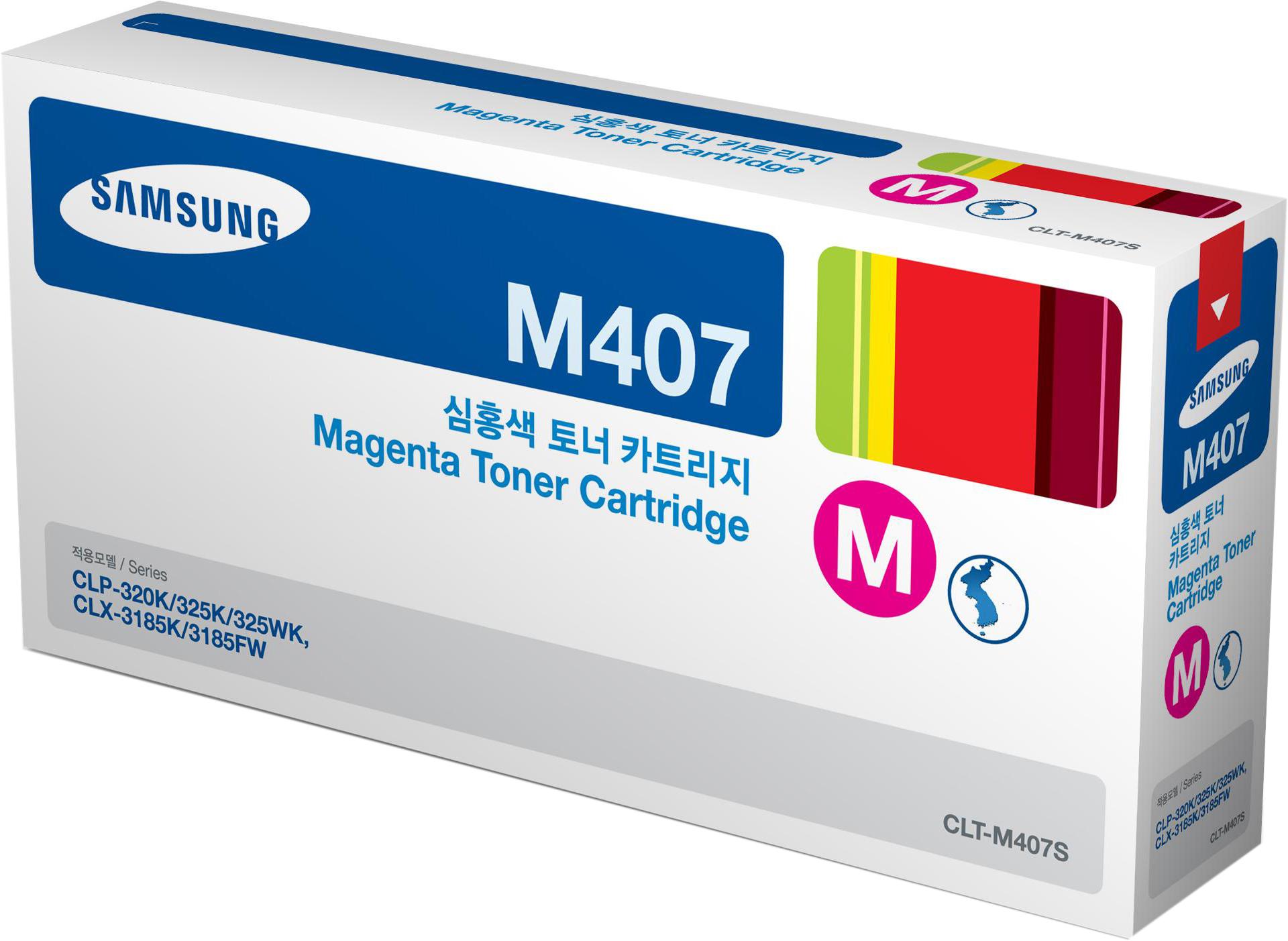 Картридж Samsung SU266A CLT-M407S для Samsung CLP-320/325/CLX-3185. Пурпурный. 1000 страниц картридж samsung clp500d5m для samsung clp500 500n пурпурный