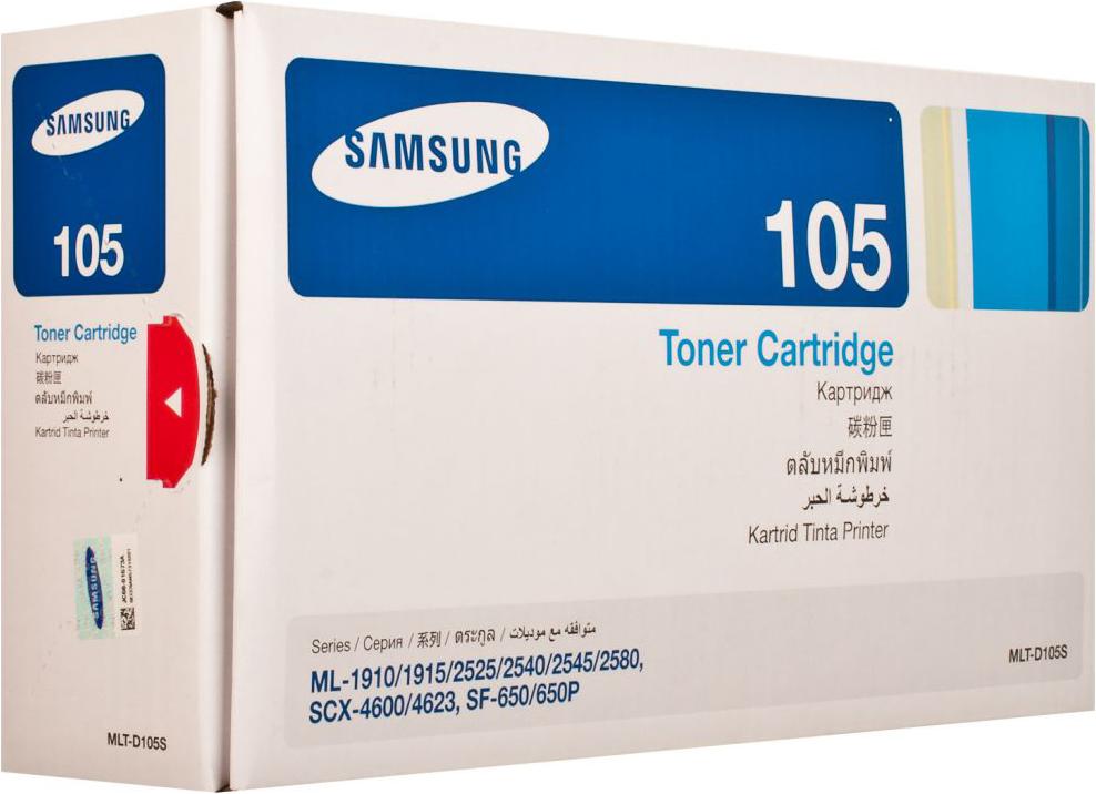 Картридж Samsung MLT-D105S, черный, для лазерного принтера, оригинал 2pcs alzenit oem new for samsung ml 1053 105 1052 1911 1910 1915 2526 2581 2855 scx 4600 drum cleaning blade printer parts