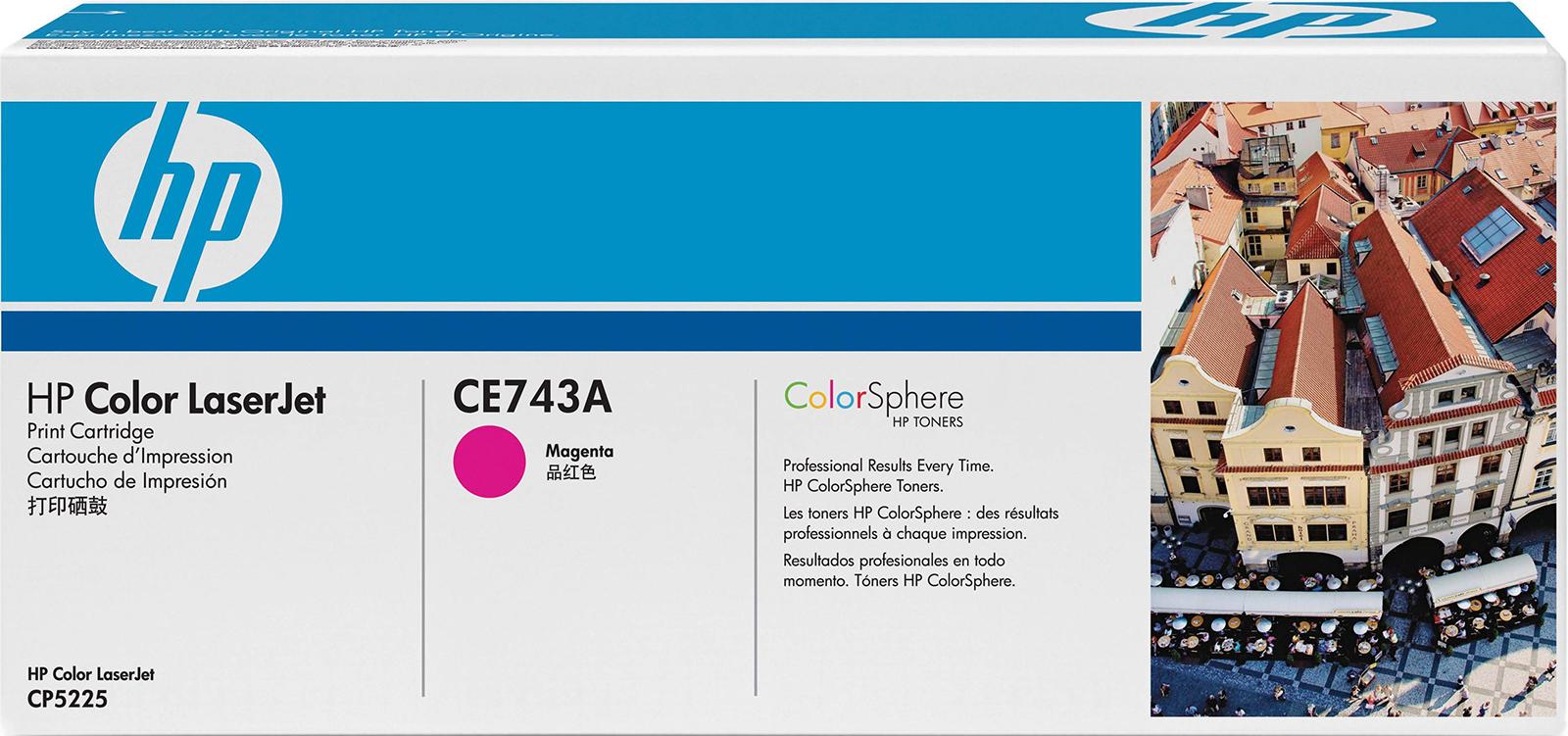 Картридж HP 307A, пурпурный, для лазерного принтера, оригинал картридж hp ce742a 307a для принтеров hp color laserjet cp5225 жёлтым 7300 страниц
