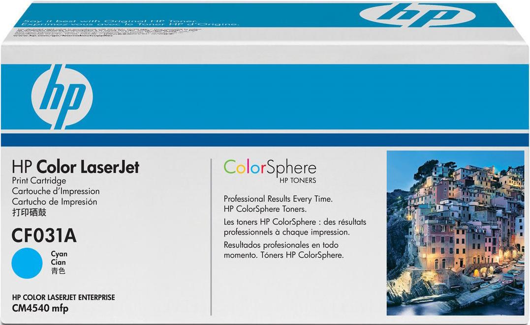 Картридж HP 646A, голубой, для лазерного принтера, оригинал картридж hp cf031a для laserjet cm4540 mfp голубой 12 500 страниц