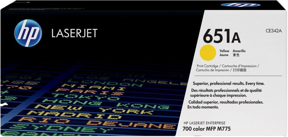 Картридж HP 651A, желтый, для лазерного принтера, оригинал
