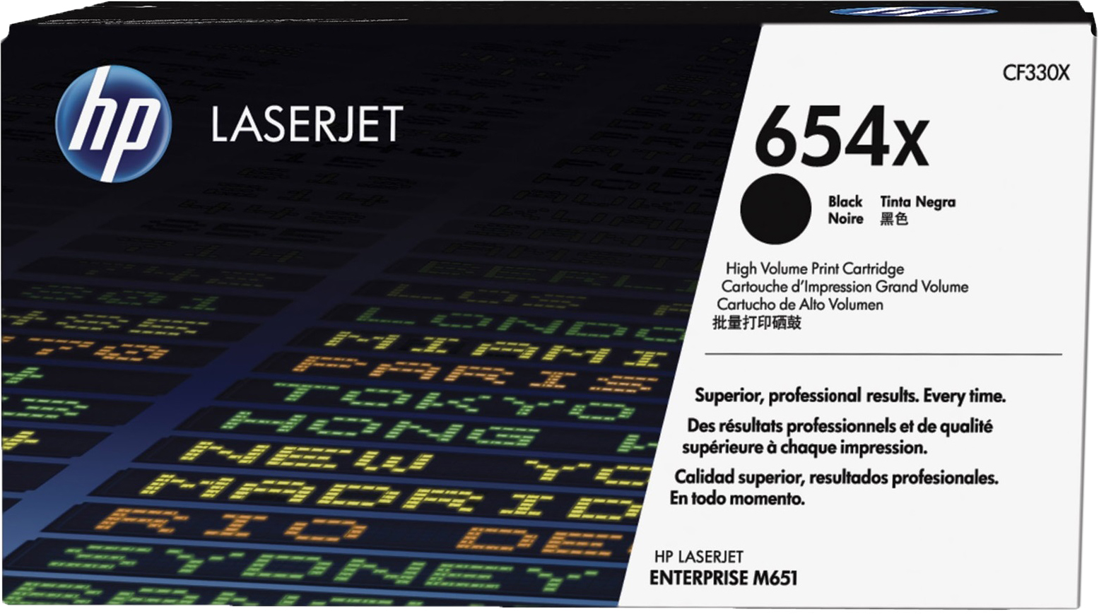 все цены на Картридж HP 654X, черный, для лазерного принтера, оригинал онлайн