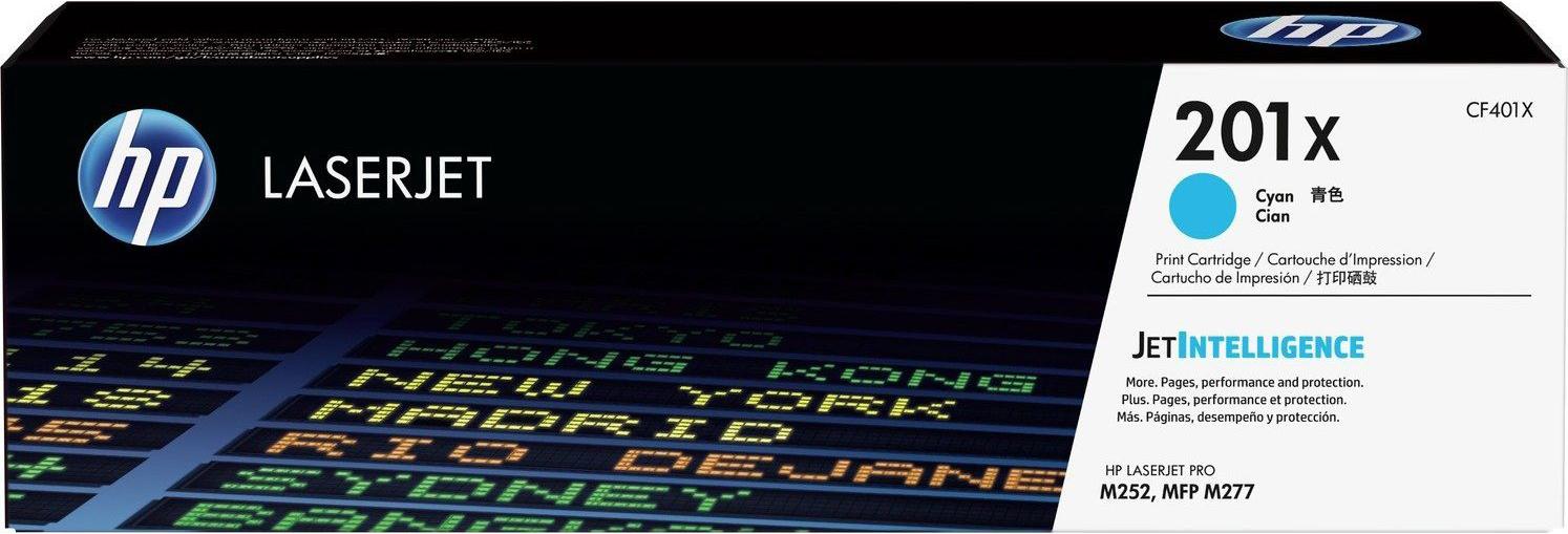 Картридж HP CF401X 201X, голубой, для лазерного принтера, оригинал картридж hp 201x laserjet cf401x