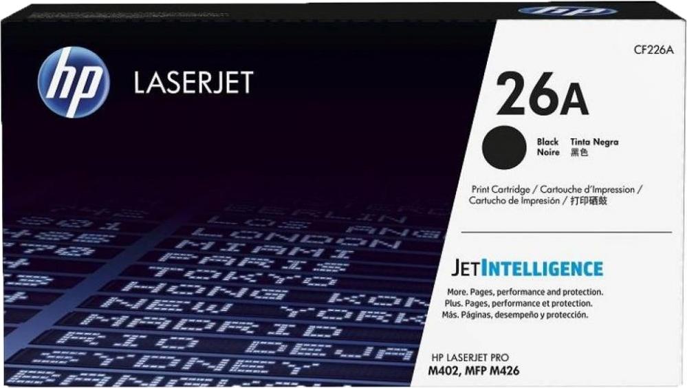 Картридж HP CF226A для HP LaserJet Pro M402/MFP M426 . Черный. 3100 страниц. картридж hp cf226x для hp laserjet pro m402 mfp m426 чёрный 9000 страниц