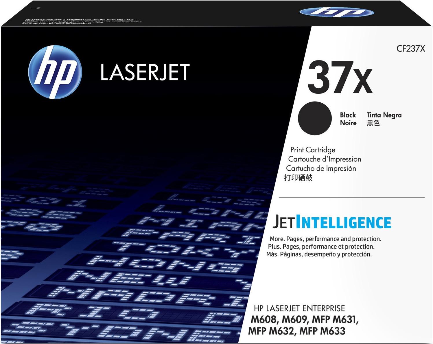 Картридж HP CF237X 37X, черный, для лазерного принтера, оригинал