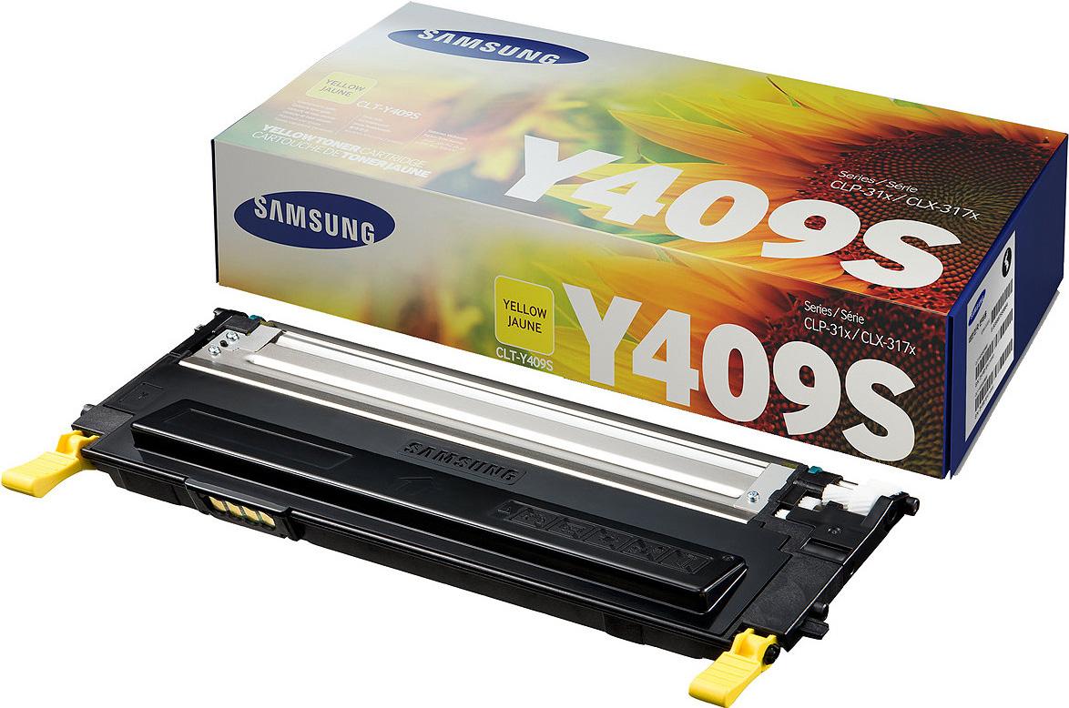цена на Картридж Samsung CLT-Y409S, желтый, для лазерного принтера, оригинал