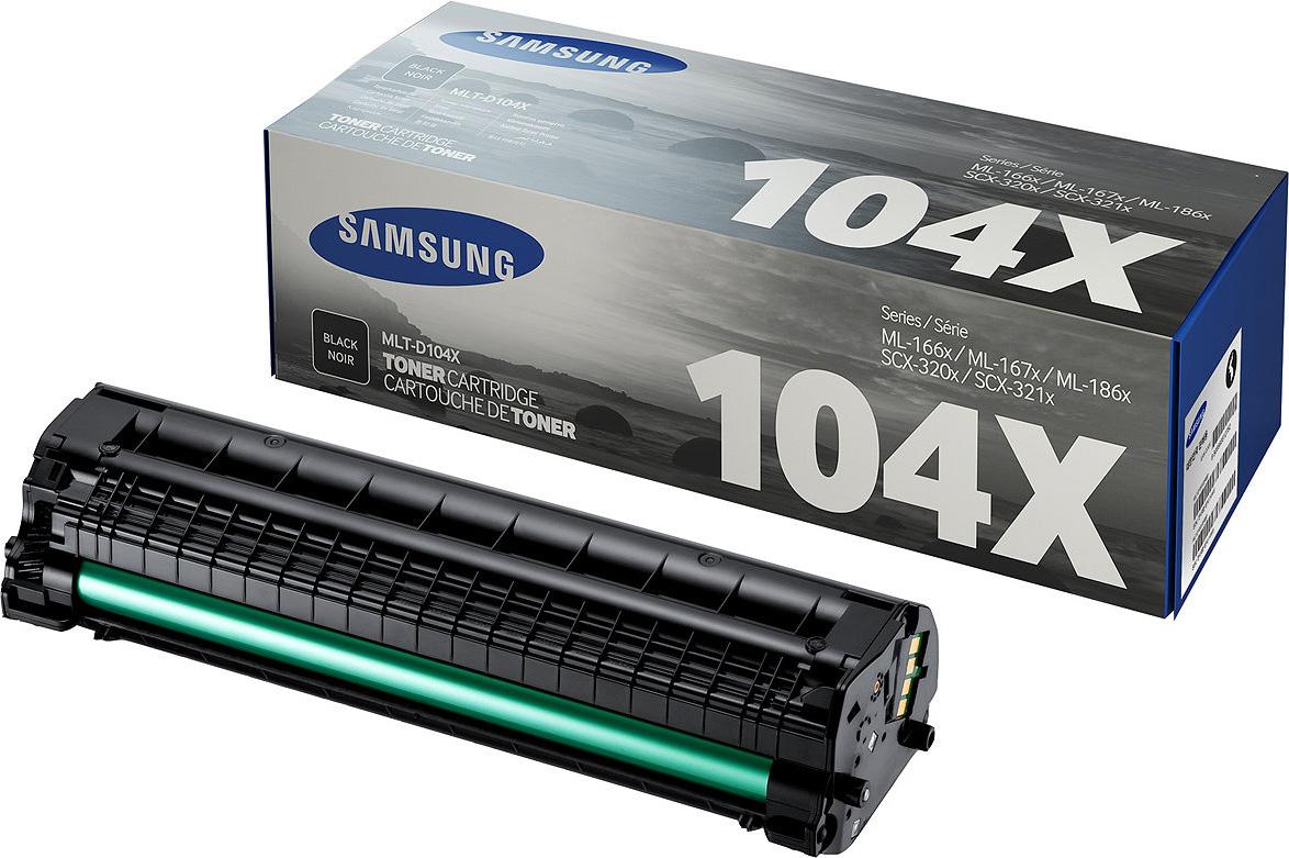 Картридж Samsung MLT-D104X, черный, для лазерного принтера, оригинал