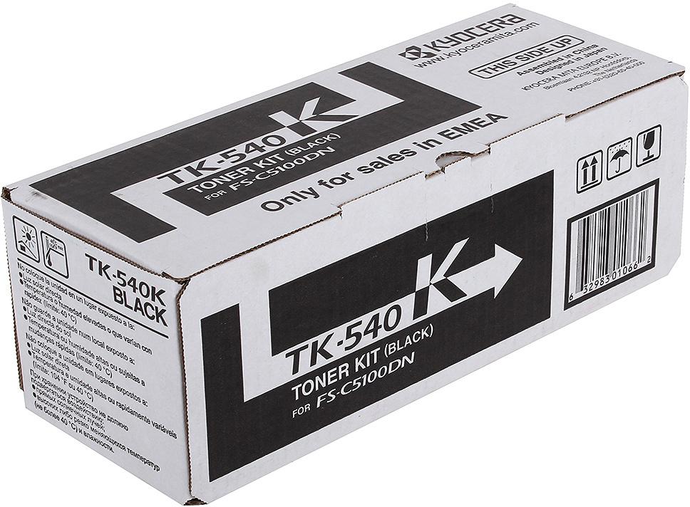 Картридж Kyocera TK-540Bk, черный, для лазерного принтера